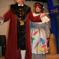 Martin Apps (Mayor Perkins) & John Sansom (Clara Crusoe)
